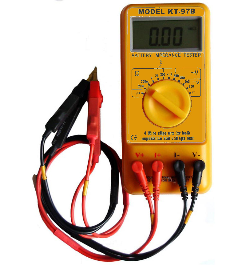 Battery Impedance Tester : Kt b battery impedance tester ebay